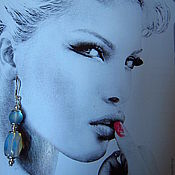 """Украшения ручной работы. Ярмарка Мастеров - ручная работа Серьги  """"Лунный свет"""" из лунного камня, швензы серебро. Handmade."""