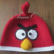Работы для детей, ручной работы. Ярмарка Мастеров - ручная работа Шапочка Angry Birds. Handmade.