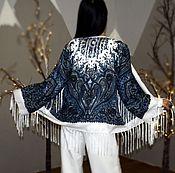 Одежда ручной работы. Ярмарка Мастеров - ручная работа Шикарная накидка в стиле бохо, Кимоно с бахромой. Handmade.