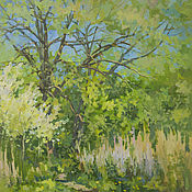 handmade. Livemaster - original item Oil painting landscape Spring. Handmade.