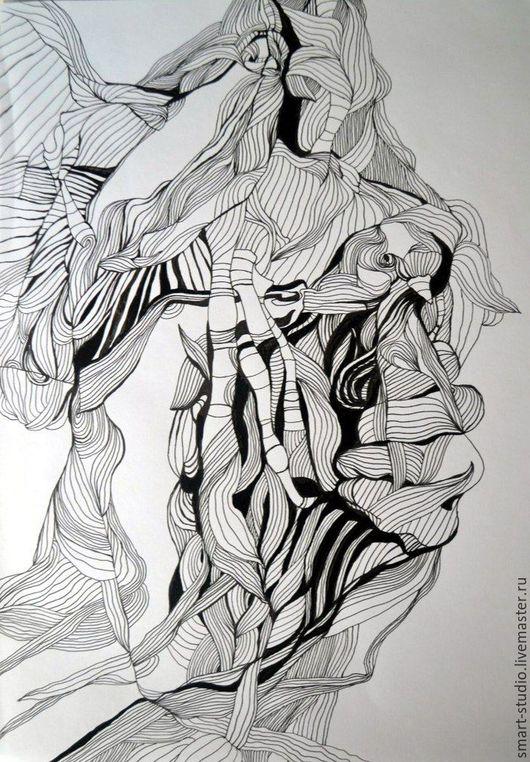 Символизм ручной работы. Ярмарка Мастеров - ручная работа. Купить Картина. Графика. Символизм. Handmade. Картина в подарок, картина