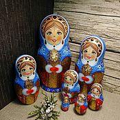 Русский стиль handmade. Livemaster - original item matreshka 7 places , the snow maiden 2. Handmade.
