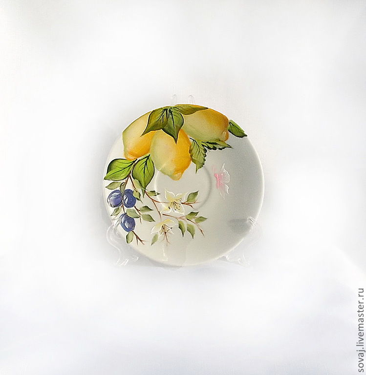 A couple of tea with painting ' children of the sun', Single Tea Sets, ,  Фото №1