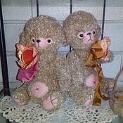 Куклы и игрушки ручной работы. Ярмарка Мастеров - ручная работа Пара вязаных медвежат. Handmade.