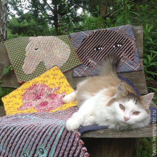 Кухня ручной работы. Ярмарка Мастеров - ручная работа. Купить Сидушки на стулья скамейку в технике синель. Handmade. Сидушка