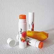 """Косметика ручной работы. Ярмарка Мастеров - ручная работа Бальзам для губ """"Манго"""", помада, подарок на 8 марта, белый, оранжевый. Handmade."""