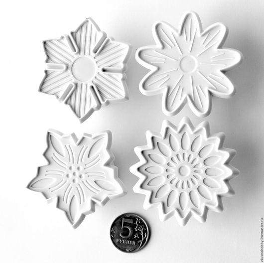 Другие виды рукоделия ручной работы. Ярмарка Мастеров - ручная работа. Купить Снежинки и цветы. Выемка, формочка, печать для марципана, мастики, тес. Handmade.