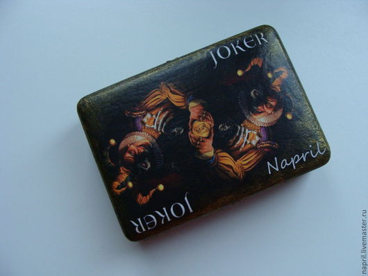 """Подарки для мужчин, ручной работы. Ярмарка Мастеров - ручная работа. Купить шкатулка для карт"""" Джокер"""". Handmade. Шкатулка ручной работы"""