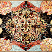 Картины и панно handmade. Livemaster - original item The painting Queen of East with semi-precious stones. Handmade.