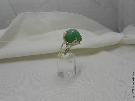 """Кольца ручной работы. Ярмарка Мастеров - ручная работа. Купить Кольцо """"Зелёный шар"""". Handmade. Зеленый, ручная работа, латунь"""