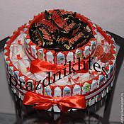Композиции ручной работы. Ярмарка Мастеров - ручная работа Торт из киндер шоколада с марсами, милки вей и т.д.. Handmade.