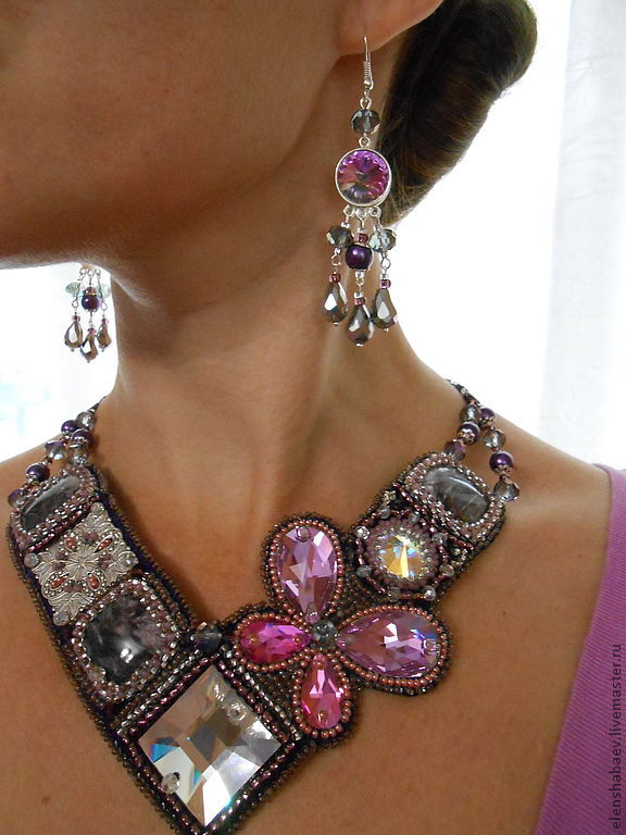 Necklace 'Butterfly' earrings, Necklace, Blagoveshchensk,  Фото №1
