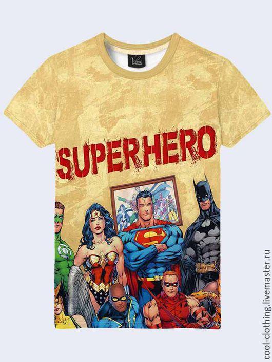"""Футболки, майки ручной работы. Ярмарка Мастеров - ручная работа. Купить Мужская футболка """"Супергерои"""". Handmade. Рисунок, футболка, майка"""