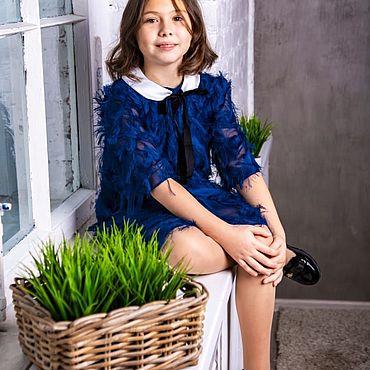 Одежда ручной работы. Ярмарка Мастеров - ручная работа Синяя орхидея. Handmade.