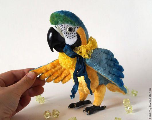 Куклы и игрушки ручной работы. Ярмарка Мастеров - ручная работа. Купить Майами, попугай ара. Handmade. Комбинированный, Попугай Ара