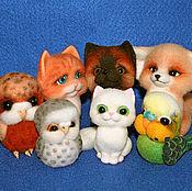 Куклы и игрушки ручной работы. Ярмарка Мастеров - ручная работа Зверята и Птички (сухое валяние). Handmade.