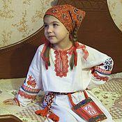Русский стиль handmade. Livemaster - original item Shirt for girls embroidered. Handmade.