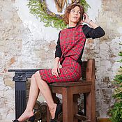 Одежда ручной работы. Ярмарка Мастеров - ручная работа Красный костюм в шотландскую клетку. Handmade.