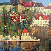 Картины и панно handmade. Livemaster - original item Prague Castle.. Handmade.
