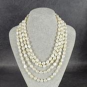 Работы для детей, handmade. Livemaster - original item Long necklace of natural pearls. Handmade.