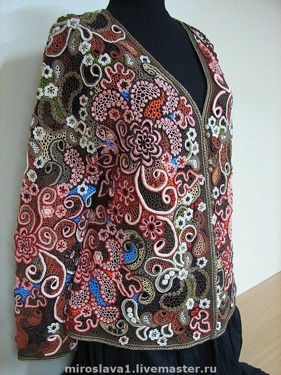Пуловер ирландским кружевом с доставкой