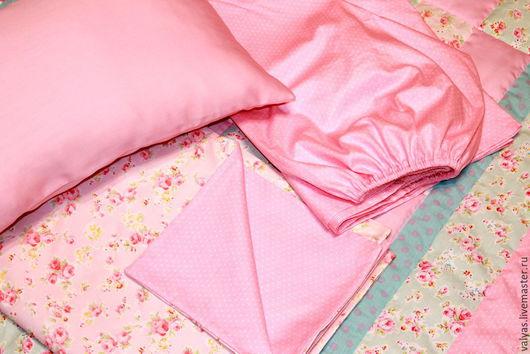 Детская ручной работы. Ярмарка Мастеров - ручная работа. Купить Постельное белье в стиле Шебби Шик нежно-розовое. Handmade.