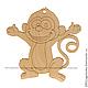 Декупаж и роспись ручной работы. Ярмарка Мастеров - ручная работа. Купить 108-2.14 Фигурка подвес с контуром (Обезьянка – символ 2016 года). Handmade.