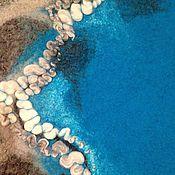 Аксессуары ручной работы. Ярмарка Мастеров - ручная работа Берет и шарф валяные из шерсти Морской берег. Handmade.