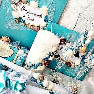 """Свадебный салон ручной работы. Ярмарка Мастеров - ручная работа Свадебный набор в морском стиле""""Звезда океана"""". Handmade."""