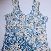 Одежда ручной работы. Ярмарка Мастеров - ручная работа Топ в технике ирландское кружево. Handmade.