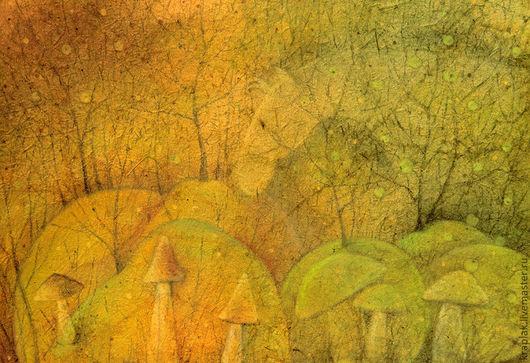 Фантазийные сюжеты ручной работы. Ярмарка Мастеров - ручная работа. Купить Туманная лошадь...Картина-принт на холсте.. Handmade. Оливковый