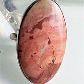 Яшма розовая. Кольцо с регулировкой