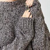 Одежда ручной работы. Ярмарка Мастеров - ручная работа Меланжевый вязаный свитер уютный. Handmade.