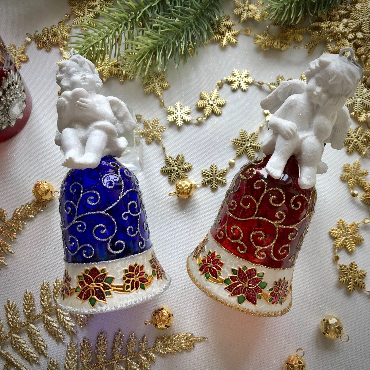 Set of Christmas bells ' White angels», Christmas decorations, Moscow,  Фото №1