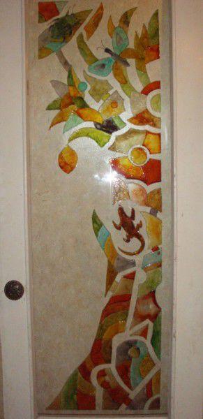 Декор поверхностей ручной работы. Ярмарка Мастеров - ручная работа. Купить Роспись по стеклу. Handmade. Краски, лак