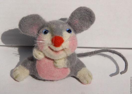 Игрушки животные, ручной работы. Ярмарка Мастеров - ручная работа. Купить Мышонок Пик. Handmade. Серый, мышка, валяная игрушка