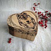 """Шкатулки ручной работы. Ярмарка Мастеров - ручная работа Шкатулка в виде сердца """"Король-пёс"""". Handmade."""