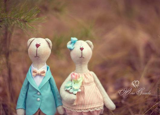 Куклы Тильды ручной работы. Ярмарка Мастеров - ручная работа. Купить Mr and Mrs. Handmade. Тильда мишка, медведь