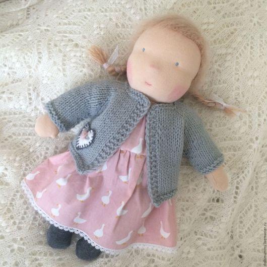 Вальдорфская игрушка ручной работы. Ярмарка Мастеров - ручная работа. Купить Вальдорфская  кукла. Handmade. Разноцветный, игровая кукла, трикотаж