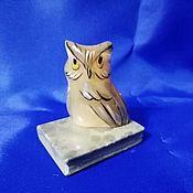 Для дома и интерьера handmade. Livemaster - original item Owl on the book, from natural Ural ornamental stone Selenite. Handmade.