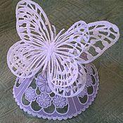 Подарки к праздникам ручной работы. Ярмарка Мастеров - ручная работа Фигурка Бабочка на подставке, пергамано. Handmade.