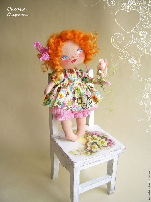 Коллекционные куклы ручной работы. Ярмарка Мастеров - ручная работа. Купить Пироженка текстильная интерьерная куколка. Handmade. Комбинированный