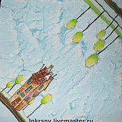 """Аксессуары ручной работы. Ярмарка Мастеров - ручная работа Платок """"Коты на крыше"""". Handmade."""
