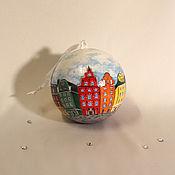 """Подарки к праздникам ручной работы. Ярмарка Мастеров - ручная работа Елочная игрушка """"Стокгольм"""". Handmade."""