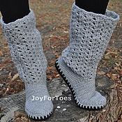 """Обувь ручной работы. Ярмарка Мастеров - ручная работа Сапожки для улицы """"Grey day"""". Handmade."""