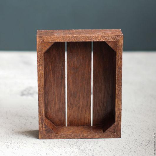 Кухня ручной работы. Ярмарка Мастеров - ручная работа. Купить Ящик-поднос темный Малый. Handmade. Бежевый, ящик из дерева