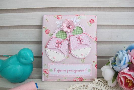 Подарки для новорожденных, ручной работы. Ярмарка Мастеров - ручная работа. Купить Мягкая тканевая открытка на рождение,день рождения 1. Handmade.