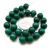 Материалы для творчества ручной работы. Ярмарка Мастеров - ручная работа Агат 26 камней набор зеленый бусины с огранкой шар 10 мм. Handmade.