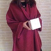 Одежда ручной работы. Ярмарка Мастеров - ручная работа Пальто Кардиган Брусничного цвета. Handmade.