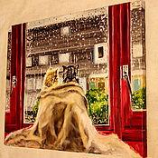 Картины и панно ручной работы. Ярмарка Мастеров - ручная работа картина маслом Один на двоих. Handmade.